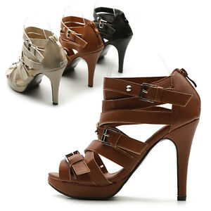 NEW-Womens-Shoes-Pumps-Platforms-Gladiator-Ankle-Straps-High-Heels-Sandal