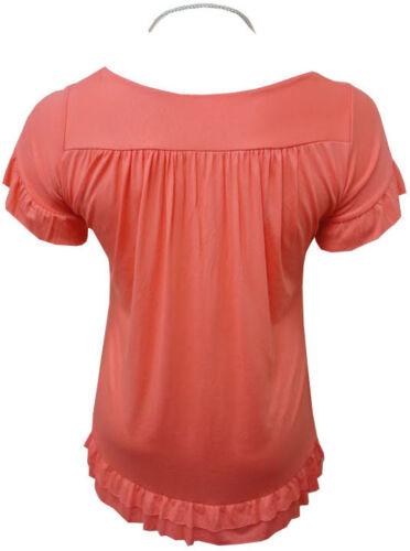 Señoras para mujer tops Plus tamaño Collar Gitano Túnica Bohemio Prendas para el torso 16 18//20 22//24 26//28