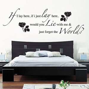 Wall Art Stickers if i lay here snow patrol wall art sticker, decal, music words