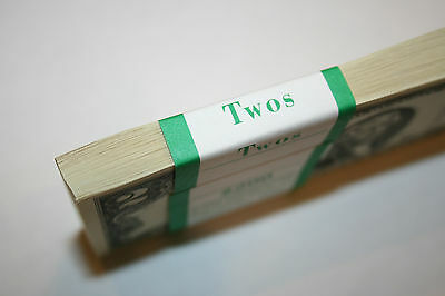 50 New Uncirculated  2  Two Dollar Bills from BEP Pack 2013 New York