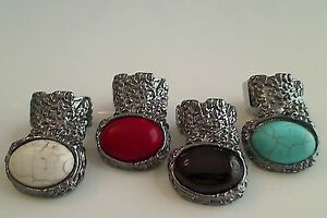 Trendy-Unique-Chunky-Gun-Metal-Armor-Cage-Knuckle-Arty-Moon-Ring-sizes-6-7-8-9
