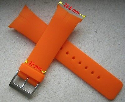 Resin Orange Replacement Strap Band Fit Nautica Rib Watch N15651G 28.8mm Size