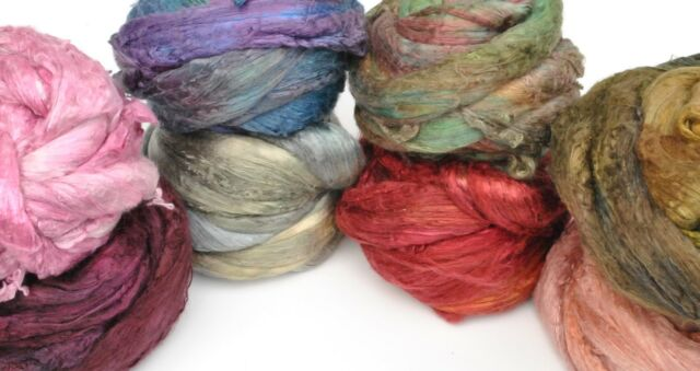 Heidifeathers® Mulberry Silk Tops / Fibres - Hand Dyed, Space Dyed