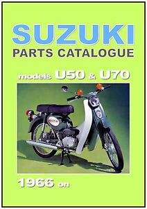 SUZUKI-Parts-Manual-U70-amp-U50-1966-1967-1968-1969-Scooter-Spares-Catalog-List