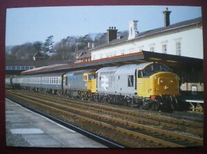 POSTCARD-RP-RAIL-RAILFREIGHT-37698-FRONTS-33037-AT-THE-HEAD-OF-BANGOR-CARDIFF