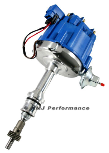SBF Ford Small Block 260 289 302 HEI Ignition Blue Cap Distributor w/ 65K Coil
