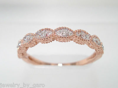 14K ROSE GOLD WEDDING AND ANNIVERSARY STACKABLE DIAMOND BAND GSI1 VINTAGE STYLE