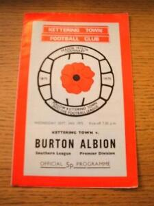 24091975 Kettering Town v Burton Albion   No obvious faults unless descripti - <span itemprop=availableAtOrFrom>Birmingham, United Kingdom</span> - Returns accepted within 30 days after the item is delivered, if goods not as described. Buyer assumes responibilty for return proof of postage and costs. Most purchases from business s - Birmingham, United Kingdom