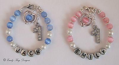 Baby Boy/Girl First (1st) Birthday Personalised Bracelet Gift
