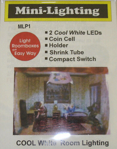 Cool White Coin Battery Operated Dollhouse Miniatures Micro Mini LED Lighting