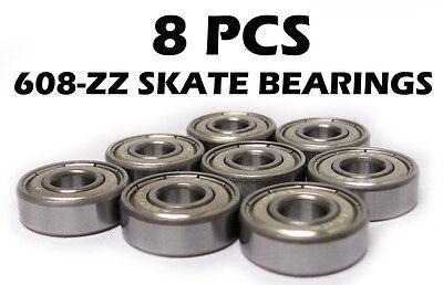 8 Skate Ball Bearing 608Z 8x22x7mm Shielded Bearings