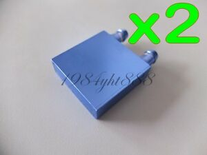 2pcs-40-40-12mm-Aluminum-Water-Cooling-Block-for-CPU-Graphics-Radiator-Heatsink