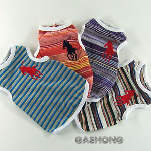 Dog-Cat-Clothes-Polo-Embroidered-Tank-Shirts-A706