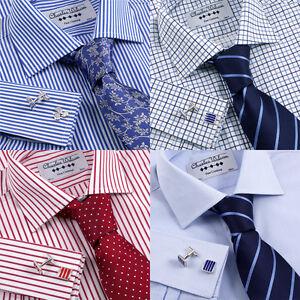Charles-Wilson-Men-039-s-Formal-Shirt-DD-FR02