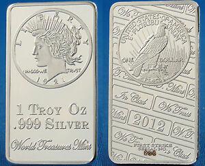 1-Troy-Ounce-999-SILVER-BULLION-EAGLE-PEACE-DOLLAR-CLAD-BAR-1-of-999-P-1023A