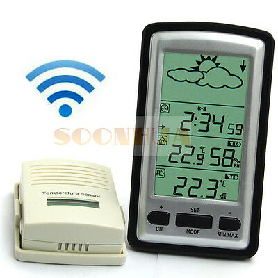 New Hot Digital Wireless Weather Station In/Outdoor Thermometer Barometer Clock