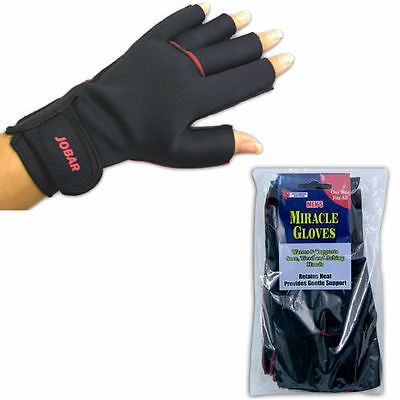 Miracle Therapy Gloves Hands Warm Supported Support Compression Retains Heat NEW
