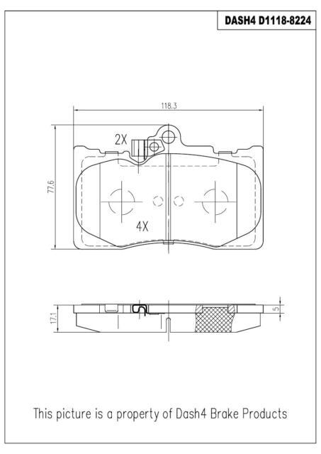 Dash4 CD557 Ceramic Brake Pad