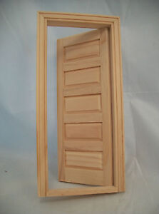Door - 5-Panel Interior Dollhouse miniature wooden #6021 1/12 Scale Houseworks