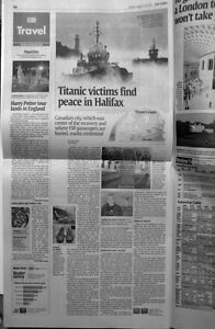 Usa today newspaper march 13 2012 titanic victims find peace in