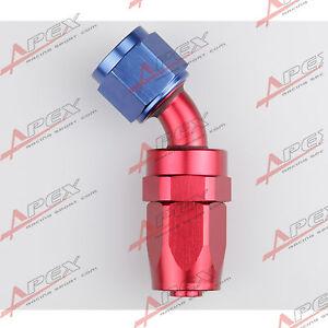 4AN-AN4-4AN-45-Degree-Swivel-Hose-End-Fitting-Adapter-Aluminum