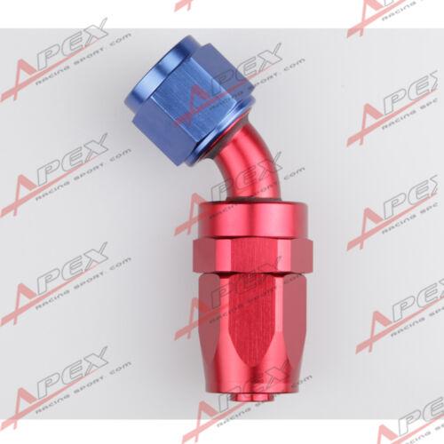 4AN AN4 4AN 45 Degree Swivel Hose End Fitting Adapter Aluminum