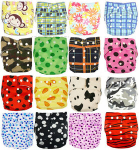 Promothion-New-Baby-One-Size-Print-Cloth-Diaper-Nappy-insert-liner