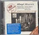 Allegri: Miserere; Palestrina: Stabat Mater (1999)
