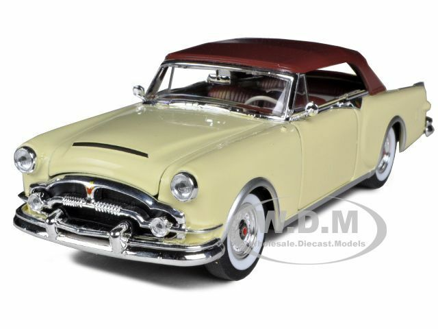 1953 PACKARD CARIBBEAN SOFT TOP CREAM 1/24 DIECAST CAR MODEL BY WELLY 24016