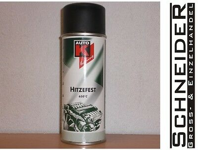 Lackspray, Schwarz, hitzefest, 650°C, AutoK, 400ml, #233041