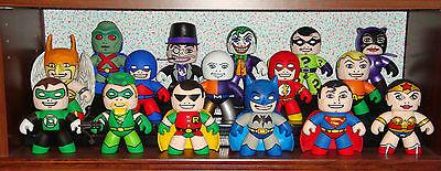 CUSTOM DC MIGHTY MUGGS LOT - COLLECTION OF 16 - BATMAN-ROBIN-SUPERMAN-FLASH+++