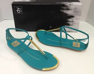 Dv By Dolce Vita Archer Sandals Shoes Mint Turquoise Gold