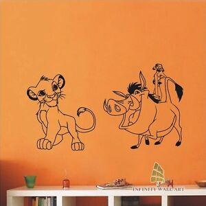 Image Is Loading Disney Lion King Nursery Wall Sticker Kids Wall