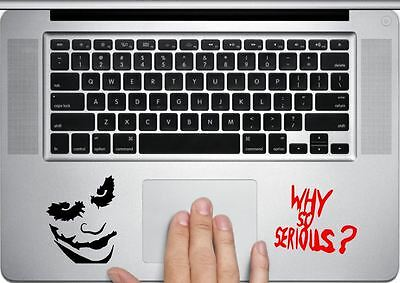 Joker Decal - Batman Dark Knight MacBook trackpad/laptop or car/window sticker