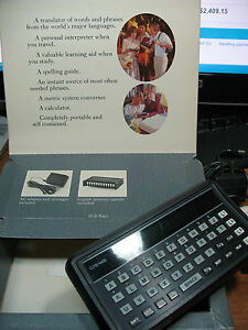 CRAIG M 100 TRANSLATOR INFO. CENTER ENGLISH ITALIAN FRENCH VINT. COMPLETE