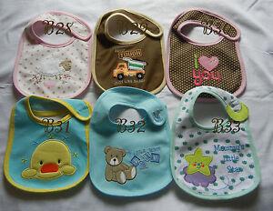 Eating-cotton-Bib-adorable-infant-baby-dribble-Feeding-teething-bib