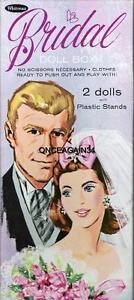 VINTAGE UNCUT 1960's BRIDAL DOLL BOX PAPER DOLLS~#1 REPRODUCTION~LOVELY SET