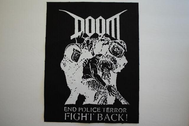 Doom Backpatch (BP22) Punk Rock Back Patch Crust Dirt Rudimentary Peni Subhumans