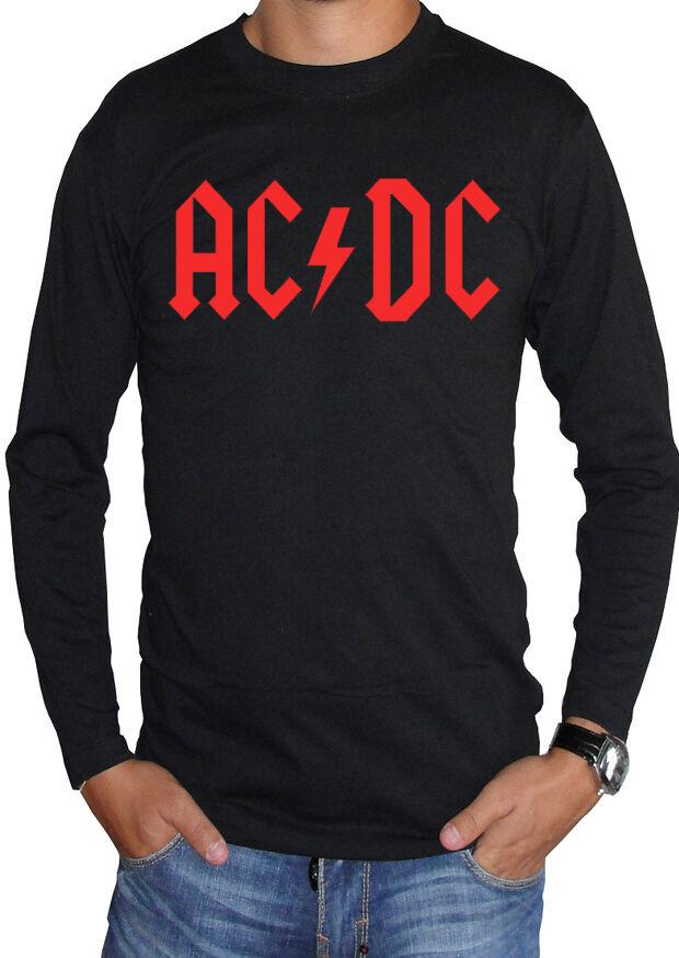 fm10 t-shirt à manches longues AC/DC unisexe 3 AC/DC longues bande rock imprimé rouge MUSIQUE 7e33a4