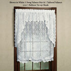 "Lorraine's Hopewell Lace 58""x63"" Tailored Balloon Shade White - 707shade51"