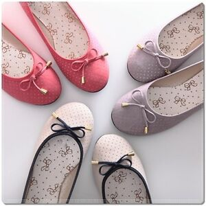 BN-Womens-Bowed-Casual-Walking-Ballet-Flats-Ballerinas-Shoes-Loafers-6-Colours