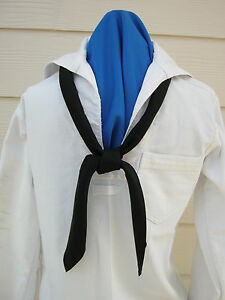 US Navy Crackerjack Tie Dress Blues Neckerchief, Scarf