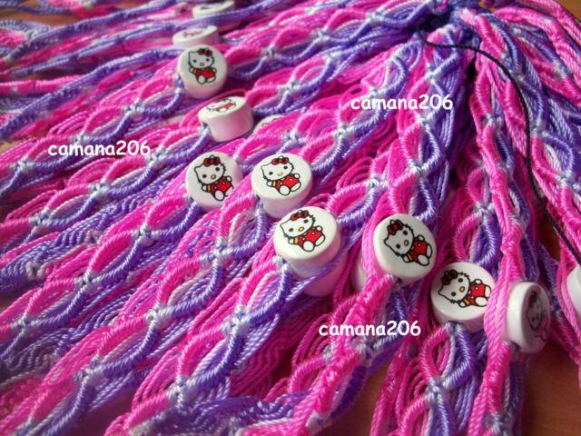50 Hello Kitty Friendship Girl Bracelet Jewelery Gift Handmade *FREE SHIPPING*