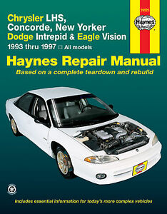 haynes repair manual 25025 chrysler dodge eagle fits 1993. Black Bedroom Furniture Sets. Home Design Ideas