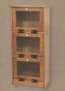 Amish-Vegetable-Bin-Bread-Box-Potato-Onion-Storage-Solid-Wood-Cupboard-Cabinet