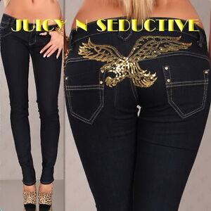 Slim-Skinny-Jeans-GOLD-EAGLE-S-M-L-XL-XXL