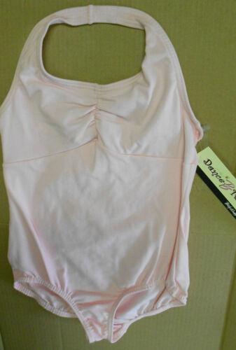 NWT BODYWRAPPERS Halter Leotard PINK Girls Sizes Cotton Spandex classic Styling