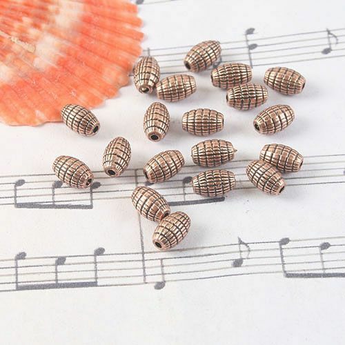24pcs antiqued copper pattern spacer beads G1436