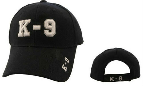 Your Choice of Two Styles K-9  CANINE K9 POLICE or MILITARY Hat Cap Ballcap