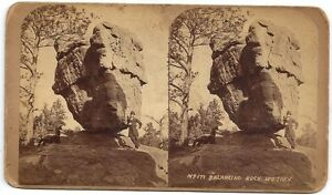Stereoview-Balancing-Rock-Garden-of-the-Gods-Colo-Alex-Martin-c1870s